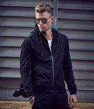 Homens Custom Fitness Style Hooded Winter Jacket / Zipper Hoodies Winter Jacket