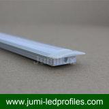 Profil en aluminium enfoncé par forme d'U DEL