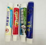Покрашенная гибкая алюминиевая пробка прокатанной пластмассы для упаковывать зубной пасты