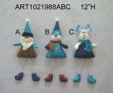 Recuerdo de la Navidad del tarro del caramelo de Santa, del muñeco de nieve y de los alces, decoración de la Asst-Navidad 3
