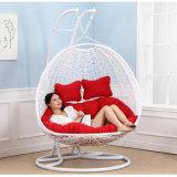 Da cadeira de vime do balanço da sala de visitas da cadeira do ovo do balanço do assento dobro mobília ao ar livre luxuosa (D151A)