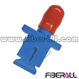 Adaptador de fibra óptica híbrido Sc a St Sm Sx Plástico