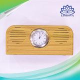 mini haut-parleur de Bluetooth du rétro modèle 10W en bois élégant avec l'horloge de quartz