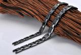 Bracelet en céramique élément noir élégant de couleur de bio pour les hommes (10048)
