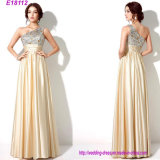 Preiswerte Hochzeits-Großhandelsbrautjunfer kleidet langes Abend-Kleid-Partei-Kleid