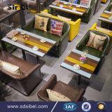 رخيصة مطعم أثاث لازم معدن إطار مقهى خشبيّة يتعشّى كرسي تثبيت, قهوة متجر أريكة وحيد