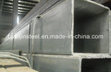 Tubulação de aço retangular galvanizada para a fábrica