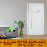 Puerta moldeada MDF blanca de la melamina del color (GSP12-021)