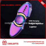 Nouveau cadeau électronique USB rechargé léger Spinner à main plus léger
