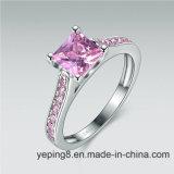 De prinses sneed de Roze Geplaatste Ring van de Diamant - 45