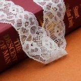 3.5cmの優雅な刺繍されたレースアフリカファブリックレースのトリムによって刺繍されるテュルのゴムのレース