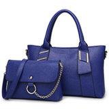 Klassische Art-Dame-Handtaschen 2PCS in 1 Setstote-Beutel Sy7891