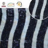 흑백 Polyster 자수 레이스 직물, 여자 의복 C10027를 위한 가장 새로운 작풍