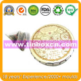 Круглый контейнер олова металла с щелчковой крышкой, оловом Clac-Clic Mint