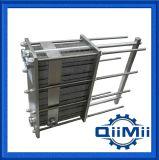 SS304 / 316L Sanitaria de acero inoxidable Wort placa de refrigeración Intercambiador de calor NBR o EPDM