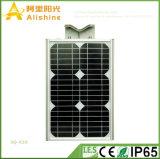Nuovo 20W 5 anni della garanzia di vita Po4 della batteria LED di lampada solare Integrated di resistenza a temperatura elevata chiara
