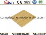 Impressão em plástico de madeira Painel de parede em PVC para placa de teto Cielo Raso De PVC
