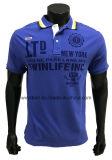 Maglietta di polo per gli uomini con il collare della banda della nervatura