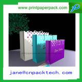 Saco de compra personalizado das bolsas do portador do presente do papel do projeto da forma