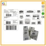 Impresión de papel de encargo de la etiqueta autoadhesiva para el código de barras