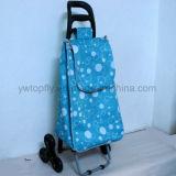 3 Wheeled Foldable Multipurpose Einfache Aufbewahrung Klettern Metall Trolley Cart