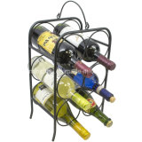 6 Rek van de Houder van de Wijn van de Vertoning van de Opslag van het Metaal van de Tafelbladen van de fles Freestanding