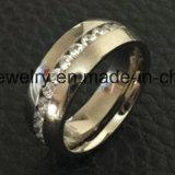 Ring Van uitstekende kwaliteit van Jewellry van het Titanium Zircon van de Juwelen van Shineme de Populaire (TR1870)