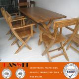 옥외 오크 탁자 및 의자 나무로 되는 가구