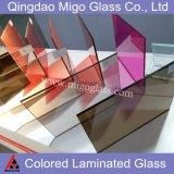 Подкрашиванное покрашенное Tempered прокатанное защитное стекло для балюстрады здания