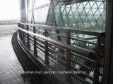 Edelstahl-Handlauf-Glastreppen-Stahlgeländer