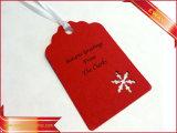 크리스마스 서류상 꼬리표 금에 의하여 인쇄되는 의복 종이 걸림새 꼬리표