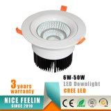 MAZORCA Downlight de la marca de fábrica LED del CREE 35W con el Ce RoHS para la iluminación comercial