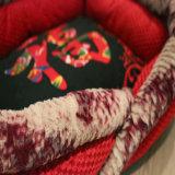 Chinese-Entwurfs-Stickerei-rotes weiches Haustier-Bett für Hundebettwäsche