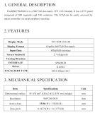 """étalage de TFT LCD de 2.7 """" 960X240 Spi&RGB, Ili8961, 40pin pour la position, sonnette, médicale"""