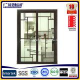 Алюминиевая двойная застекленная серия раздвижной двери 2.0mm THK