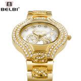 Reloj impermeable oval de la aleación del acero inoxidable del reloj elegante del cuarzo de la manera del reloj de señoras de Belbi