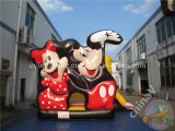Personaje de dibujos animados Inflatable Bouncy Castle inflables de diapositivas para niños