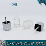 Bottiglie di vetro quadrate vuote del polacco di chiodo con la protezione e la spazzola 12ml