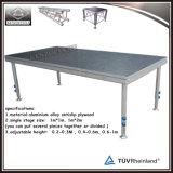 Venta de la etapa portable del aluminio de la etapa de la venda de la etapa del funcionamiento de DJ de la etapa