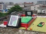 屋外および屋内のための膨脹可能な人間のフットボール競技場