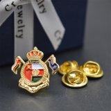 Kundenspezifisches Goldflügel-Kronen-Metallpin-Abzeichen