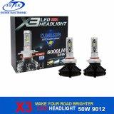 1 50W 6000lm H7 H4 9005에서 빠른 출하 전부 9006 9012 H1 H3 Philips Zens X3 LED 헤드라이트