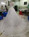 Vestito da cerimonia nuziale nuziale reale della principessa alta qualità del collo elegante di illusione