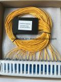 Pon/LAN/FTTX를 위한 Gpon Telecommunication1X32 PLC 쪼개는 도구 플라스틱 상자