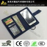 Новый бумажник PU с креном 4000mAh 6500mAh силы батареи
