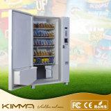 大きいタッチ画面が付いている缶詰にされたびん詰めにされた飲み物の自動販売機