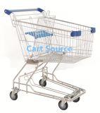trole asiático da compra do carro de compra do carro do trole do mantimento do supermercado do estilo 85L