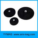 Neodimio permanente rivestito del magnete del POT della forte gomma da vendere
