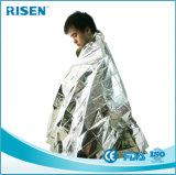 Réchauffement d'urgence Espace de sauvetage Mylar Foil Blanket for Survival