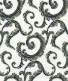 Papel pintado hermoso del papel pintado del damasco de la flor con el PVC impermeable